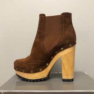 Ralph Lauren Polo Suede Wood Platform Boot